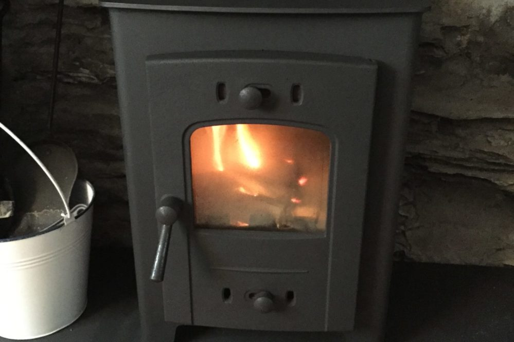 3 Evans Terrace Wood burning stove